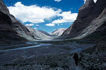 Pilgrims on the west side of Kailash