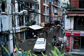 Thamel in Kathmandu: hangout place for tourists