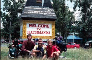 Kathmandu has been reached - the trip is over.